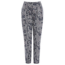 Buy Oasis Paisley Print Trousers, Mid Grey Online at johnlewis.com