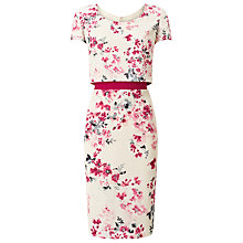 Buy Jacques Vert Scilian Floral Dress, Multi/Pink Online at johnlewis.com