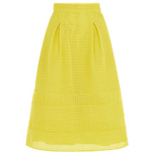 Buy Warehouse Linear Prom Skirt, Yellow Online at johnlewis.com