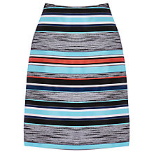 Buy Warehouse Stripe Jacquard Skirt, Multi Online at johnlewis.com