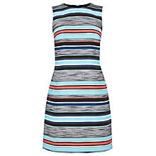 Buy Warehouse Jacquard Stripe Shift Dress Online at johnlewis.com