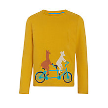Buy Donna Wilson for John Lewis Llama on Tandem T-Shirt, Yellow Online at johnlewis.com