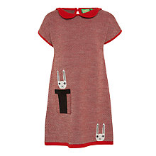 Buy Donna Wilson for John Lewis Knitted Rabbit Dress, Red Online at johnlewis.com