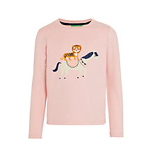 Buy Donna Wilson for John Lewis Tiger on Horse T-Shirt, Pink Online at johnlewis.com