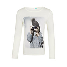 Buy John Lewis Girls' Photo Print T-Shirt, Gardenia Online at johnlewis.com