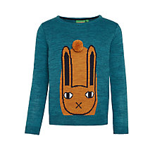 Buy Donna Wilson for John Lewis Rabbit Placement Jumper, Teal Online at johnlewis.com