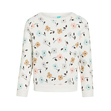Buy John Lewis Girls' Floral Sweatshirt, Gardenia Online at johnlewis.com