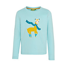 Buy Donna Wilson for John Lewis Llama T-Shirt, Aqua Online at johnlewis.com
