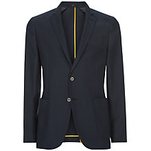 Buy Jaeger Wool Cotton Slim Fit Blazer, Navy Online at johnlewis.com