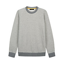 Buy Jaeger Herringbone Jumper, Grey Online at johnlewis.com
