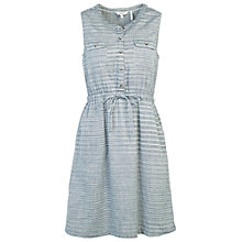 Buy Fat Face Lauren Stripe Shirt Dress, Chambray Online at johnlewis.com