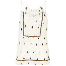 Buy Fat Face Naomi Embroidered Cami Top, Cotton Seed Online at johnlewis.com