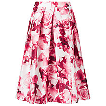 Buy Jacques Vert Floral Print Prom Skirt, Pink Online at johnlewis.com