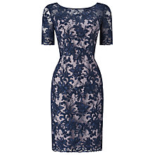Buy Jacques Vert Lace Contrast Dress, Multi Blue Online at johnlewis.com