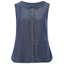 Buy White Stuff Flipside Vest, Denim Online at johnlewis.com
