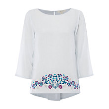 Buy White Stuff Ocean Top, White/Blue Online at johnlewis.com