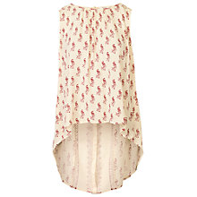Buy Fat Face Emily Peacock Longline Tunic, Ivory Online at johnlewis.com