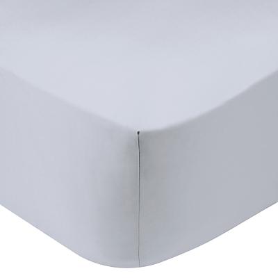 Calvin Klein Satin Standard Fitted Sheet, Argent