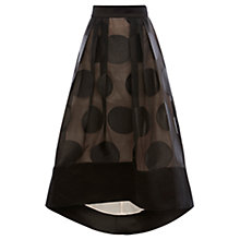 Buy Coast Rhian Spot Skirt, Black Online at johnlewis.com