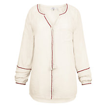 Buy Fat Face Carly Embroidered Blouse, Ivory Online at johnlewis.com