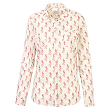 Buy Fat Face Ivy Classic Fit Peacock Print Shirt, Ivory Online at johnlewis.com