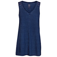 Buy Fat Face Longline Top, Indigo Online at johnlewis.com