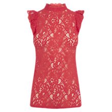Buy Oasis Ruffle Lace T-Shirt Online at johnlewis.com