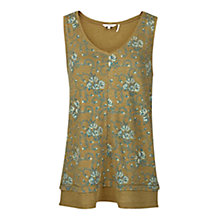 Buy Fat Face Polperro Grapevine Tank Top, Olive Online at johnlewis.com