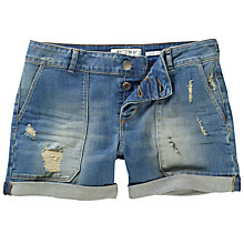 Buy Fat Face Ripped Worker Shorts, Denim Online at johnlewis.com