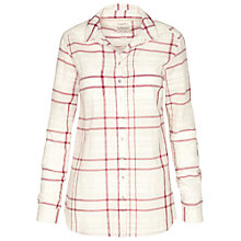 Buy Fat Face Boyfriend Check Shirt, Seed Online at johnlewis.com