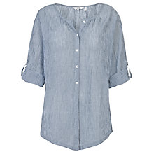 Buy Fat Face Tiefront Stripe Blouse, Navy Online at johnlewis.com