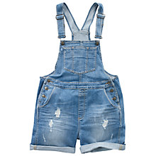 Buy Fat Face Extra Wash Ripped Dungaree Shorts, Denim Online at johnlewis.com
