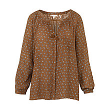 Buy Fat Face Carly Scatter Floral Blouse, Demerara Online at johnlewis.com