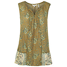 Buy Fat Face Olive Juliet Grapevine Cami Top, Olive Online at johnlewis.com