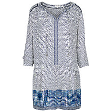 Buy Fat Face April Temple Geo Dress, Ivory Online at johnlewis.com