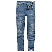 Buy Fat Face Heavy Washed Ripped Skinny Jeans, Denim Online at johnlewis.com