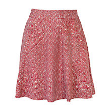 Buy Fat Face Audrey Geo Tile Skirt, Burnt Red Online at johnlewis.com