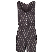 Buy Fat Face Olivia Peacock Playsuit, Phantom Online at johnlewis.com