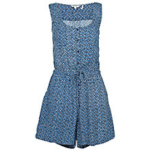 Buy Fat Face Olivia Temple Geo Playsuit, Navy Online at johnlewis.com