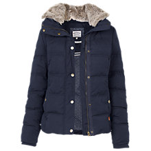 Buy Fat Face Poppy Puffer Jacket, Technical Navy Online at johnlewis.com