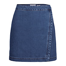 Buy Fat Face Esme Denim Wrap Skirt, Denim Online at johnlewis.com