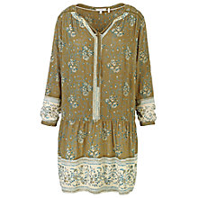 Buy Fat Face April Grapevine Dress, Olive Online at johnlewis.com