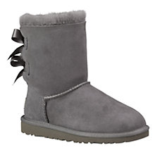 Buy UGG Children's Bailey Bow Boots, Grey Online at johnlewis.com