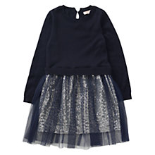 Buy Jigsaw Girls' Sequinned Dress, Navy Online at johnlewis.com