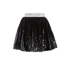 Buy John Lewis Girls' Ombre Sequin Skirt, Silver Online at johnlewis.com