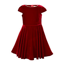 Buy John Lewis Heirloom Collection Beaded Velvet Dress, Red Online at johnlewis.com
