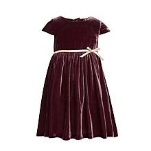 Buy John Lewis Heirloom Collection Girls' Silk-Blend Velvet Dress, Plum Online at johnlewis.com