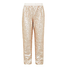Buy John Lewis Girls' Sequin Trousers, Gold Online at johnlewis.com