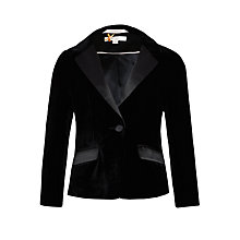 Buy John Lewis Heirloom Collection Girls' Velvet Jacket, Black Online at johnlewis.com
