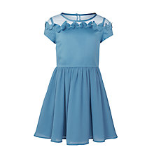 Buy John Lewis Girls' Butterfly Appliqué Dress, Light Blue Online at johnlewis.com